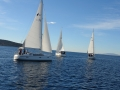 On the start of regatta in front of the Punat's bay, island Krk